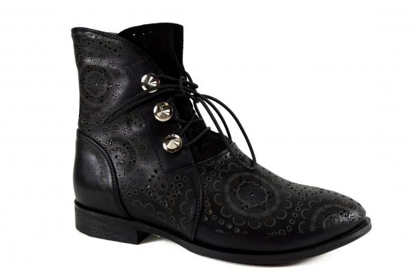 john garfield elegante damen luftige sommer boots stiefeletten schwarz ebay. Black Bedroom Furniture Sets. Home Design Ideas